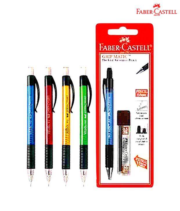 Faber Castell Auto Mech Pencils (0.5 mm) (5 packs-10 each)