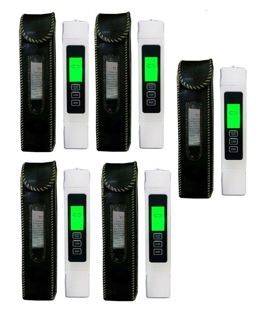 Tds Meter With Led Backlight Digital Water Tester Pack Of 5 Pcs