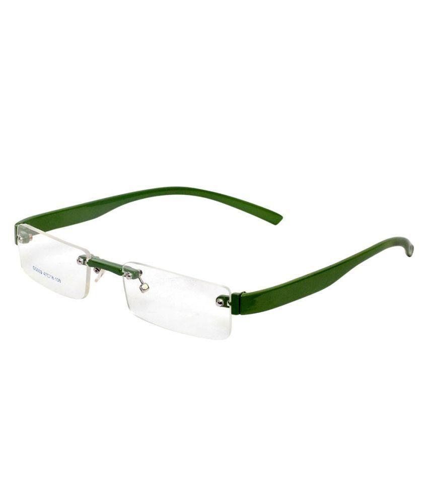 1d52128bbae Magjons Green Rimless Eyeglass Frame - Buy Magjons Green Rimless Eyeglass  Frame Online at Low Price - Snapdeal