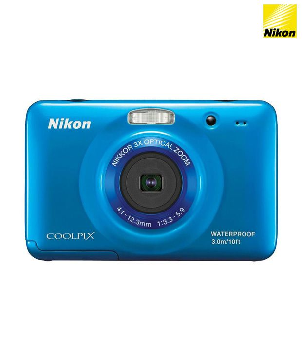 Nikon Coolpix S30 Point & Shoot Digital Camera (Blue)