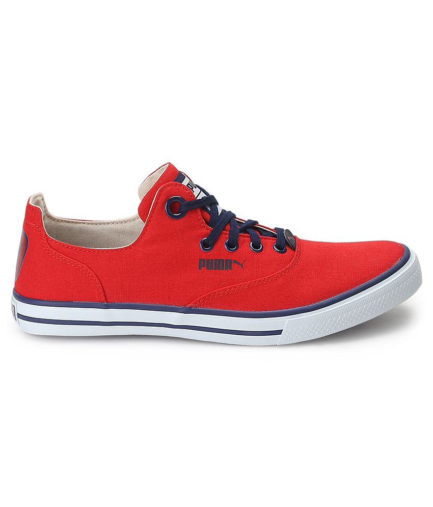 3ecc2874e6 Puma Red Canvas Shoes - Buy Puma Red Canvas Shoes Online at Best ...