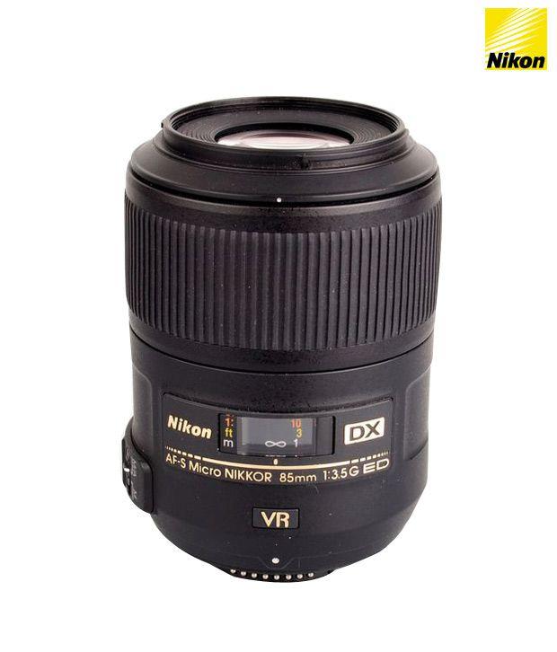Nikon 85 mm f/3.5G ED VR AF-S DX  Micro Nikkor DX Lens