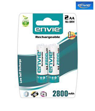 Envie 2 x AA 2800mAh Ni Mh Rechargeable Batteries