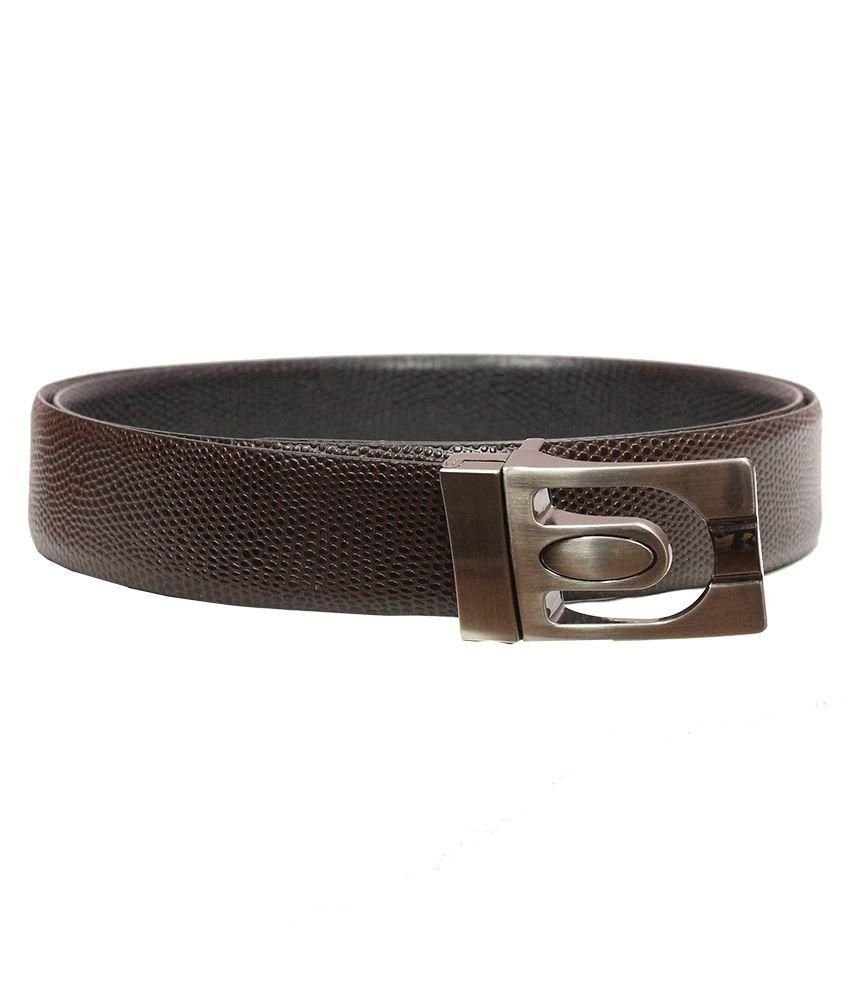 SB International Brown Leather Formal Belt for Men