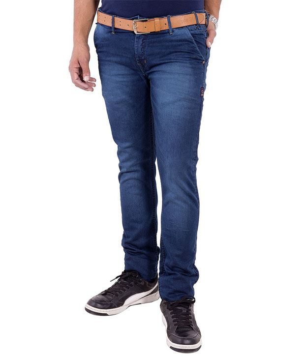 Urban Faith Blue Regular Fit Jeans