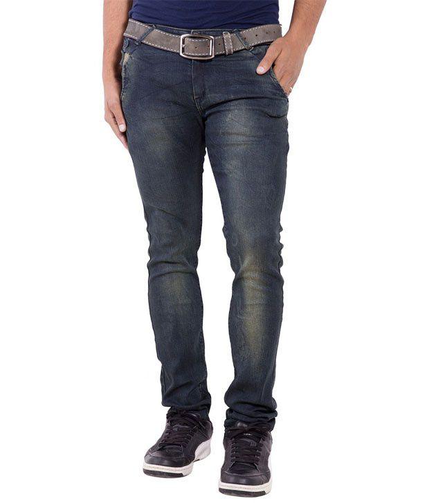 Urban Faith Green Regular Fit Jeans