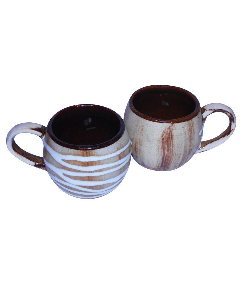 Buyer's Beachceramic Multicolour Mugs Pack Of 2