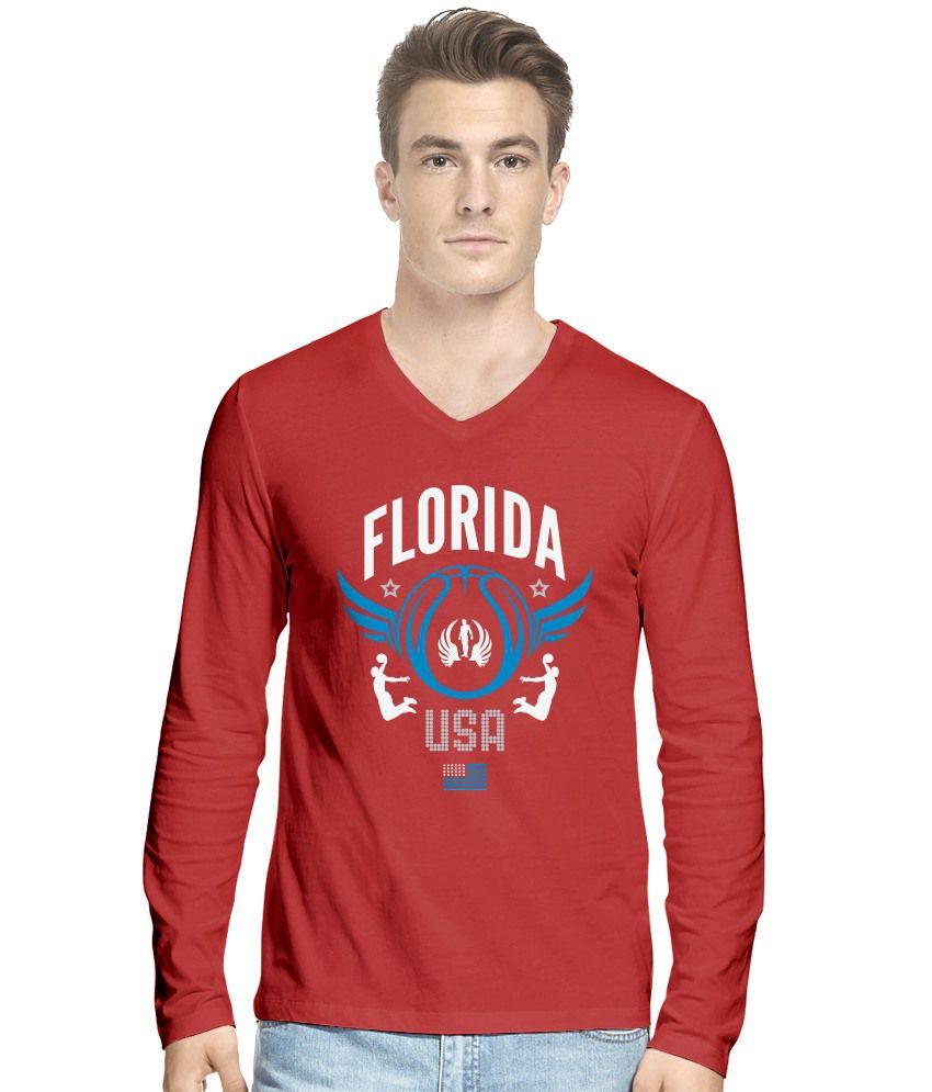 Hueman Red Cotton T-Shirt