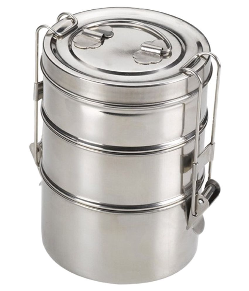 b4610e03a King International Silver Stainless Steel 750ml Tiffin Box  Buy Online at Best  Price in India - Snapdeal