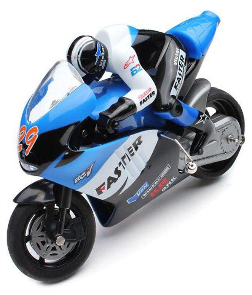AdraxX Blue Remote Control Toy Bike - Buy AdraxX Blue ...