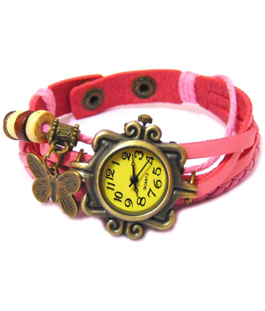 Exit Pink Analog Bracelet Watch