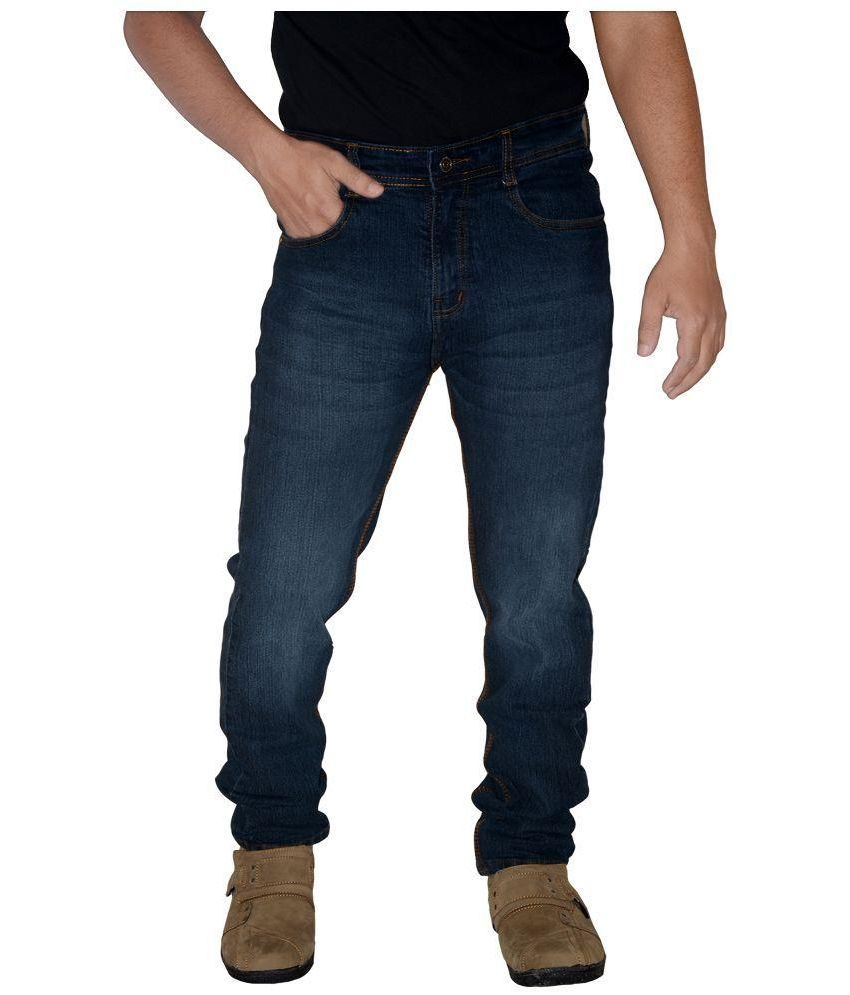L,Zard Blue Regular Fit Jeans