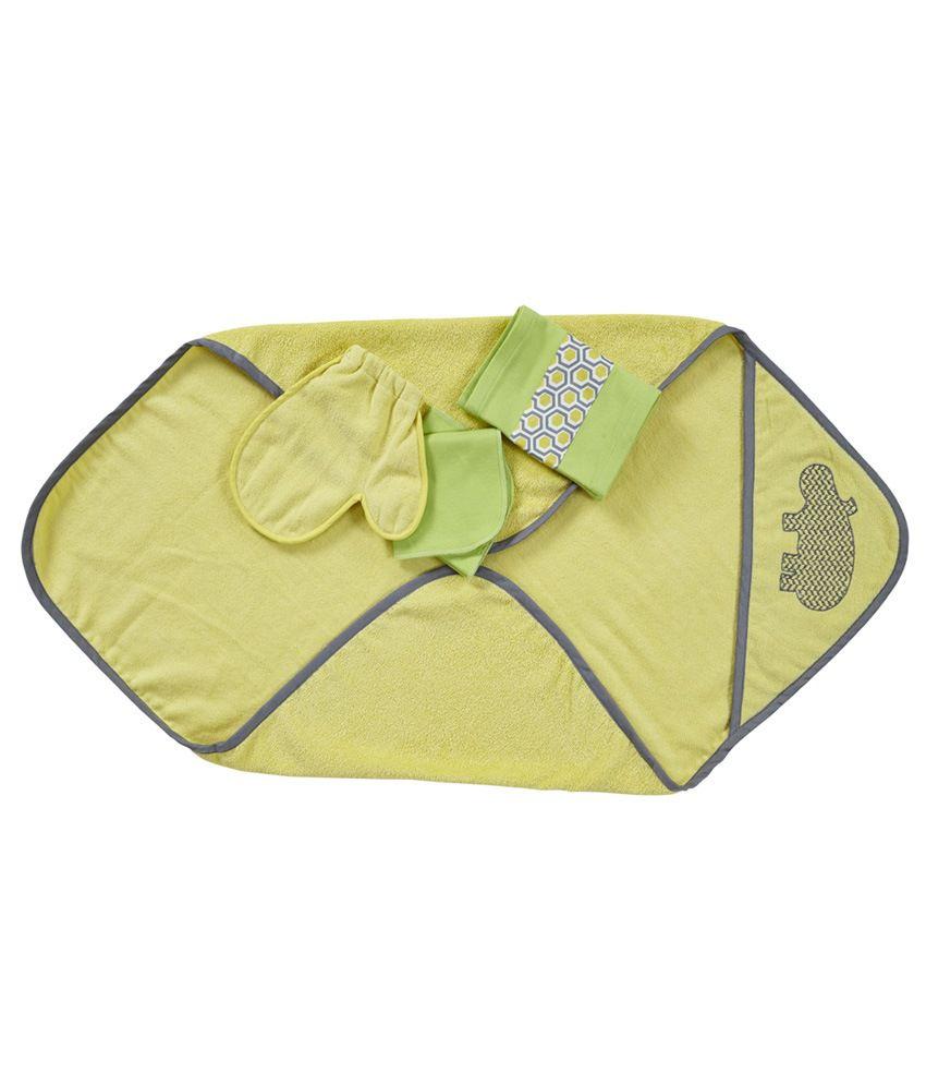 Maspar Hippo Print Infant Towel Set