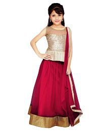 Najara Fashion Maroon Lehenga For Girls