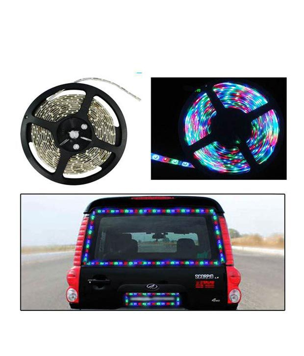 Universal Car Decorative light 5 Meters Waterproof Cuttable Led Lights Strip Roll Multicolor