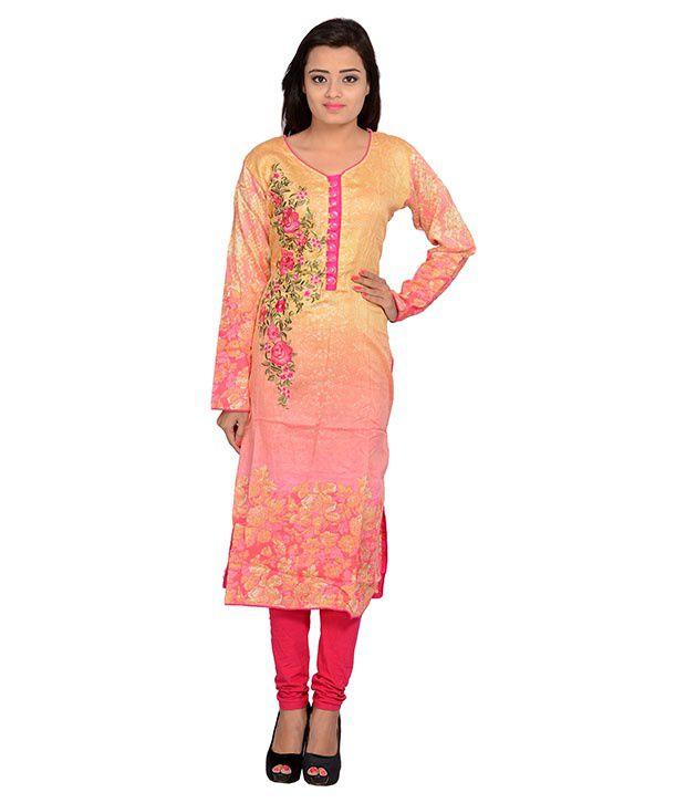 Merry Fashion Multi Color Cotton Kurti