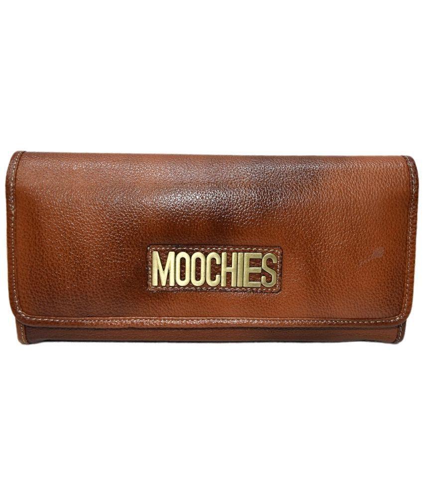 Moochies Brown Formal Leather Wallet