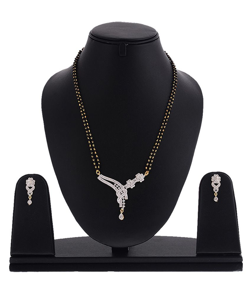 Zeneme Alloy American Diamond Mangalsutra Set