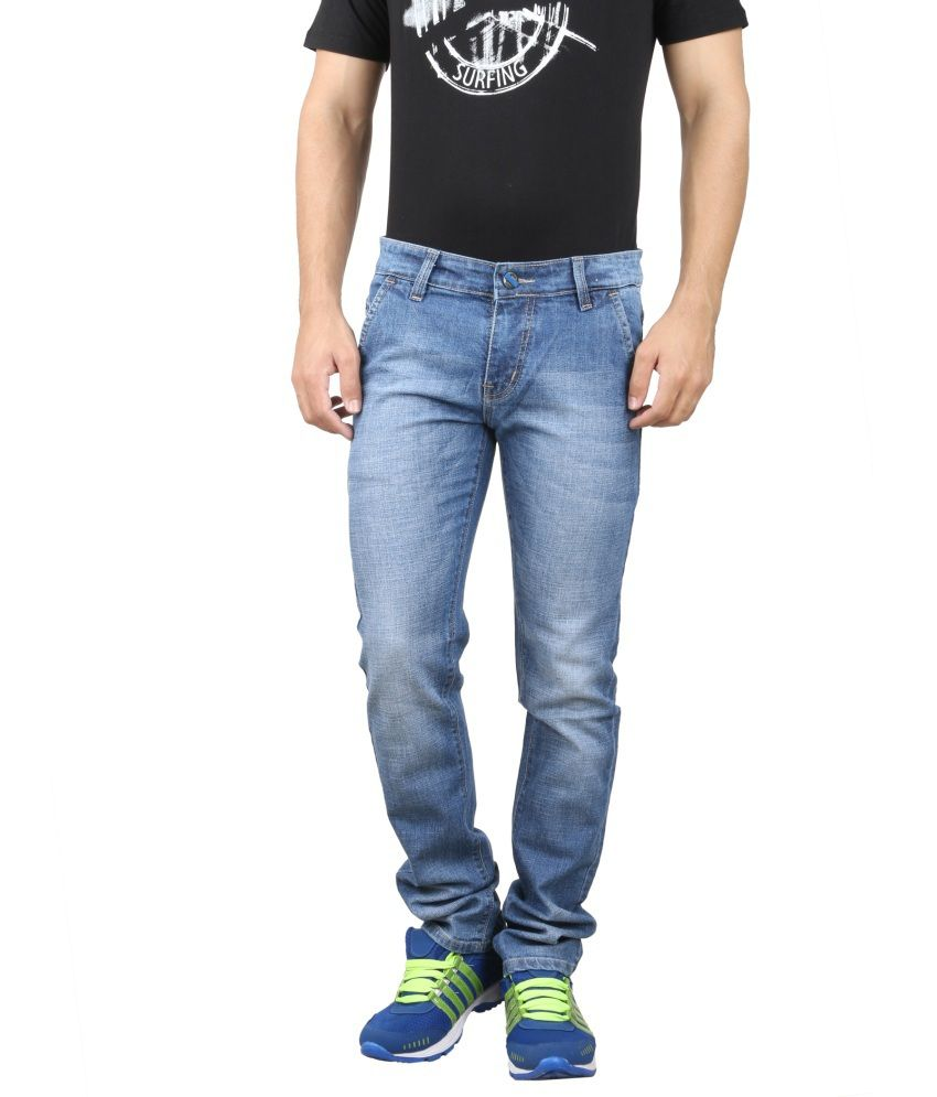 Jevaraz Blue Regular Fit Jeans