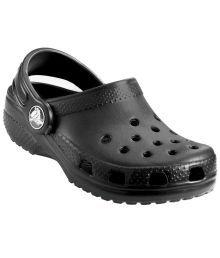 Crocs Roomy Fit Black Clogs For Kids