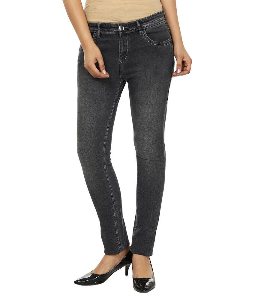 Fashion Cult Gray Denim Lycra Jeans