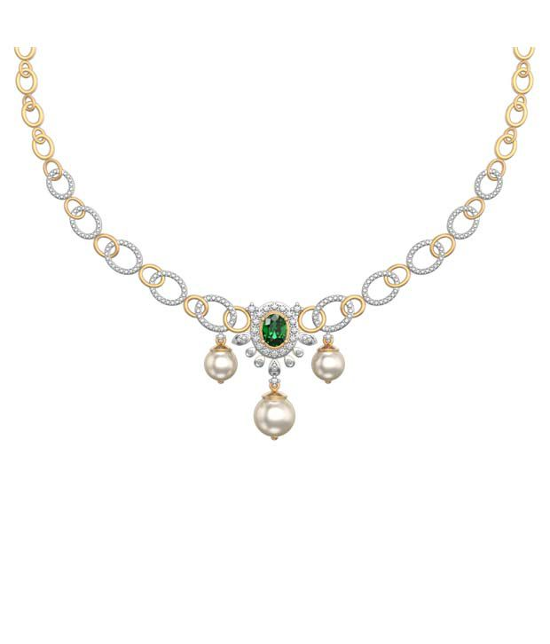 I Love Diamonds Glorious Green Necklace