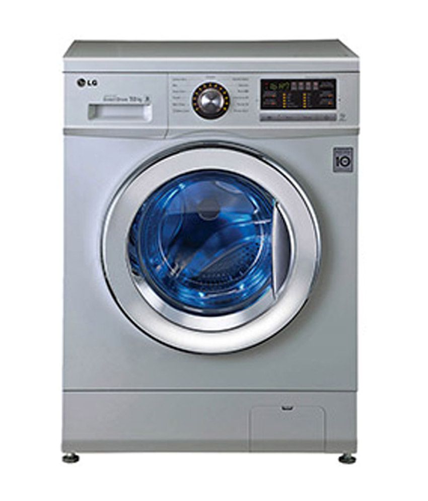 silver lg washing machine