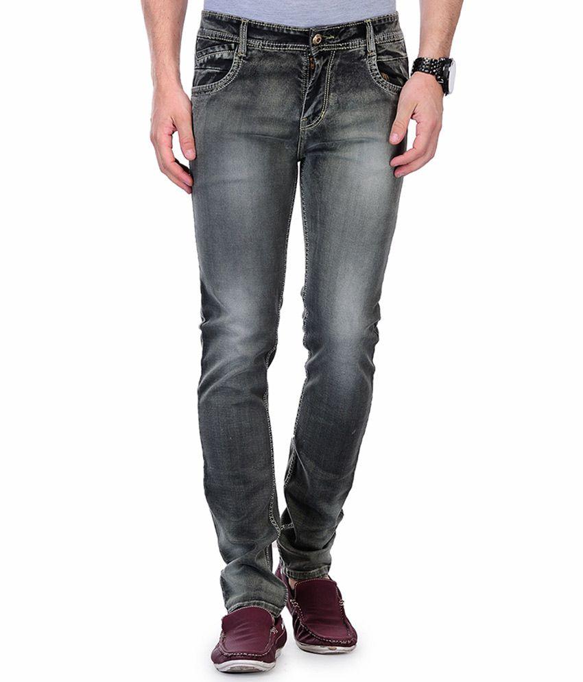 Ausy Grey Slim Fit Jeans