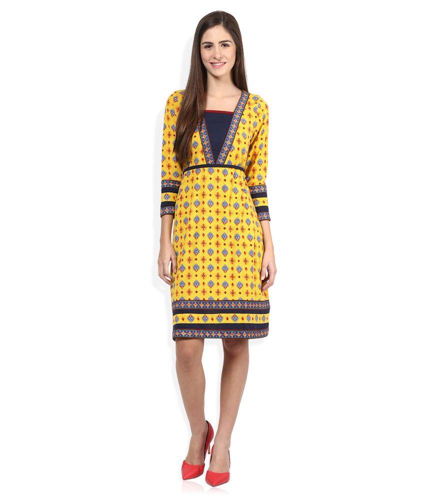 66a58c67b Fusion Beats Yellow Dresses - Buy Fusion Beats Yellow Dresses Online ...