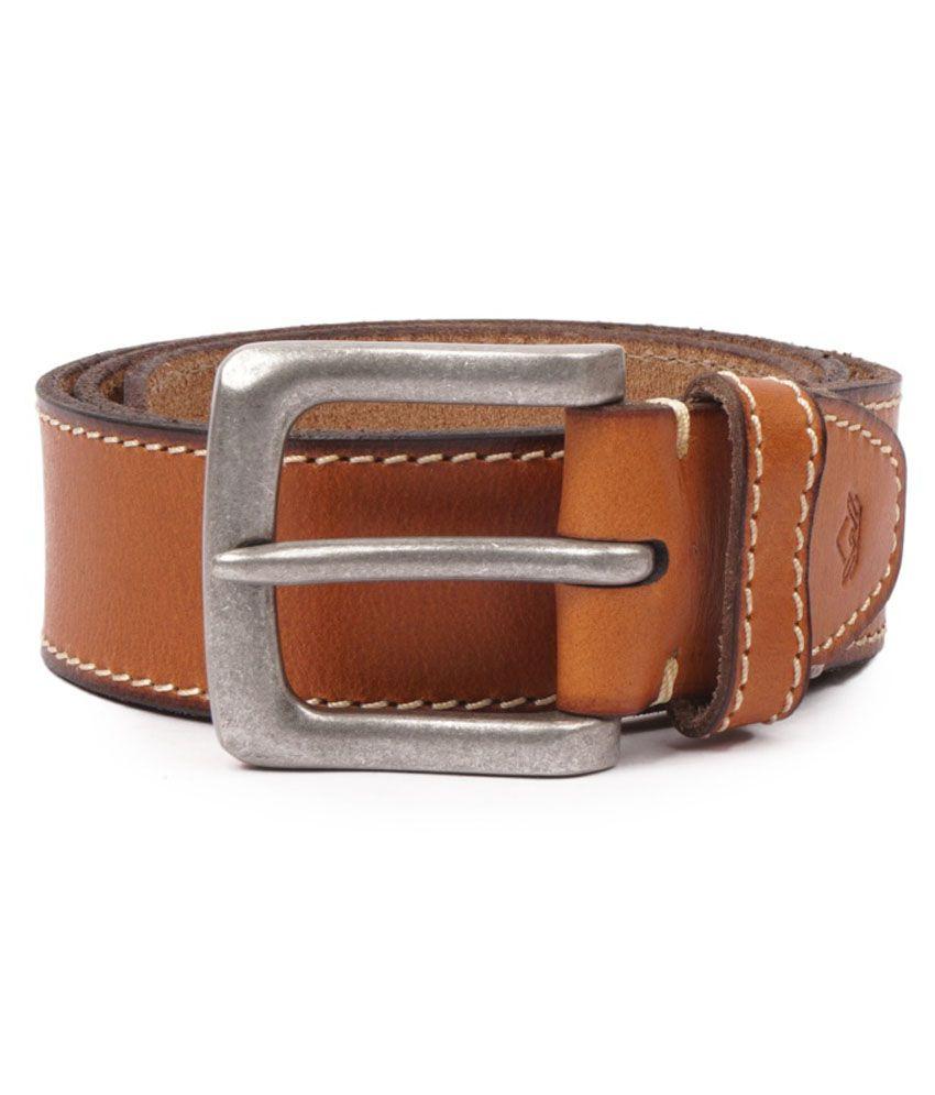 Wolux Tan Casual Belt For Men