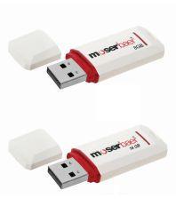 Moser Baer Knight 8 Gb & 16 GB Pendrive White