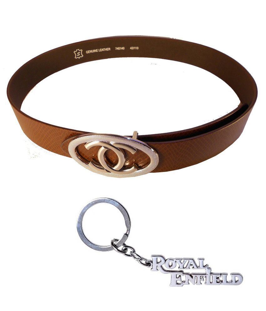 Rocket Market Brown Formal Single Belt For Men