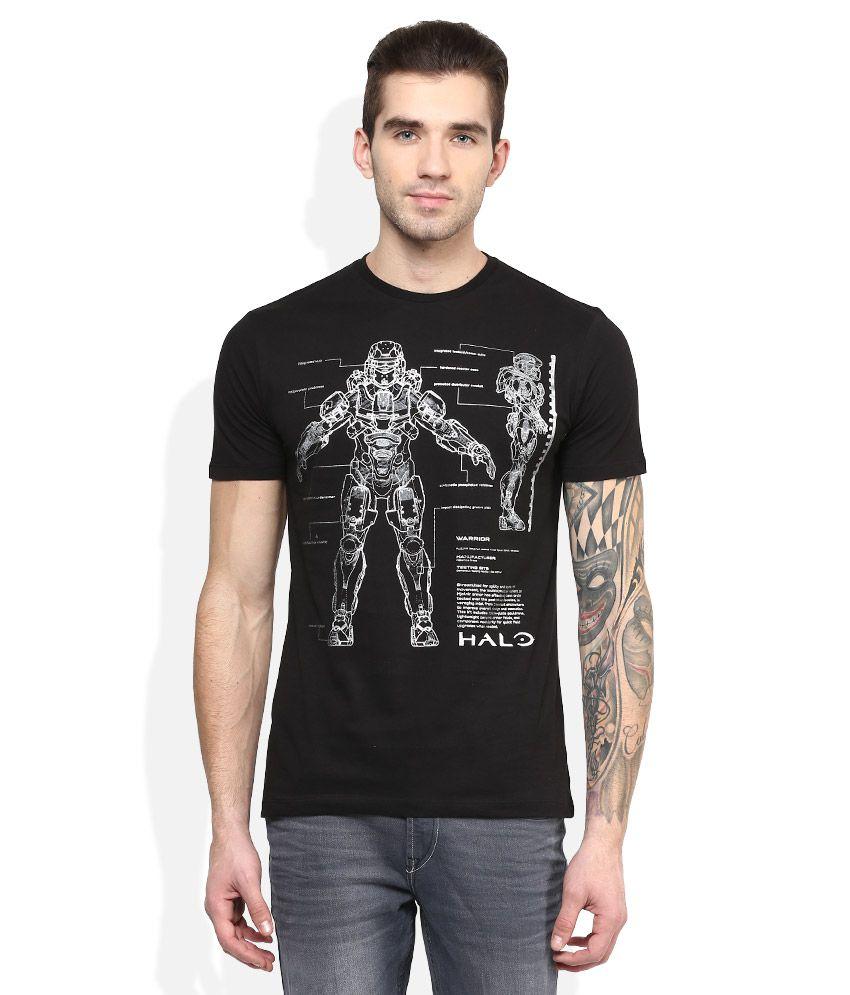 Halo 5 Black Printed T-Shirt
