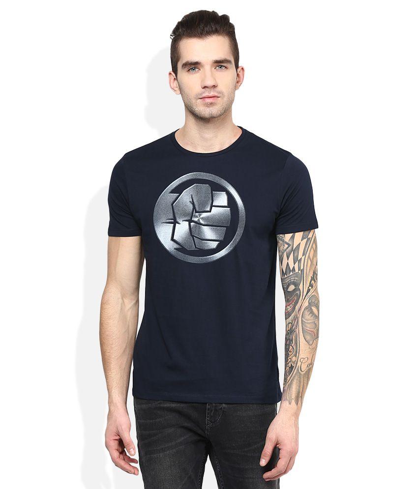 Hulk Navy Printed T-Shirt