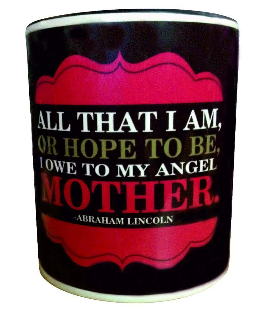 Design O Print Black Ceramic Mug