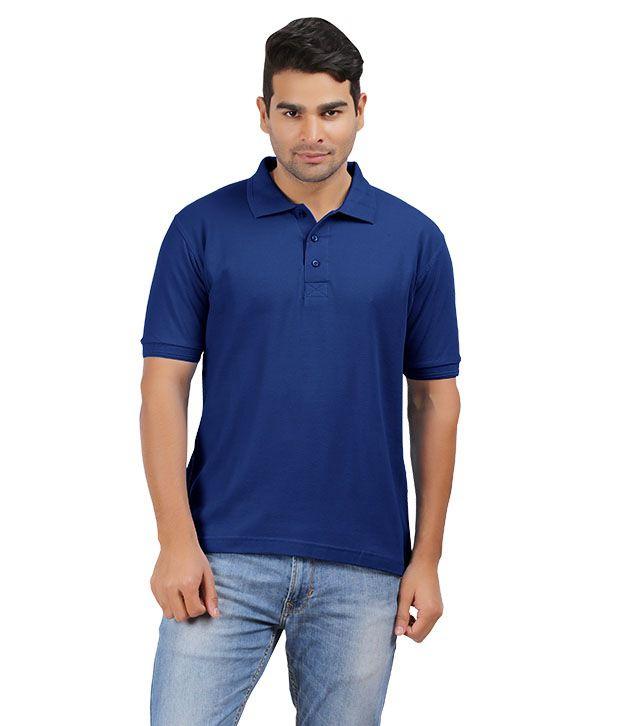 Cool Kolors Blue Cotton Polos T-shirt