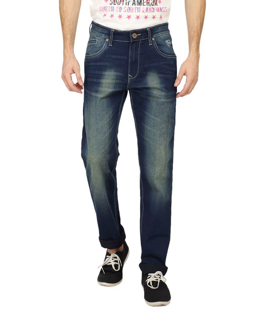 Pepe Jeans Navy Blue Cotton Jeans