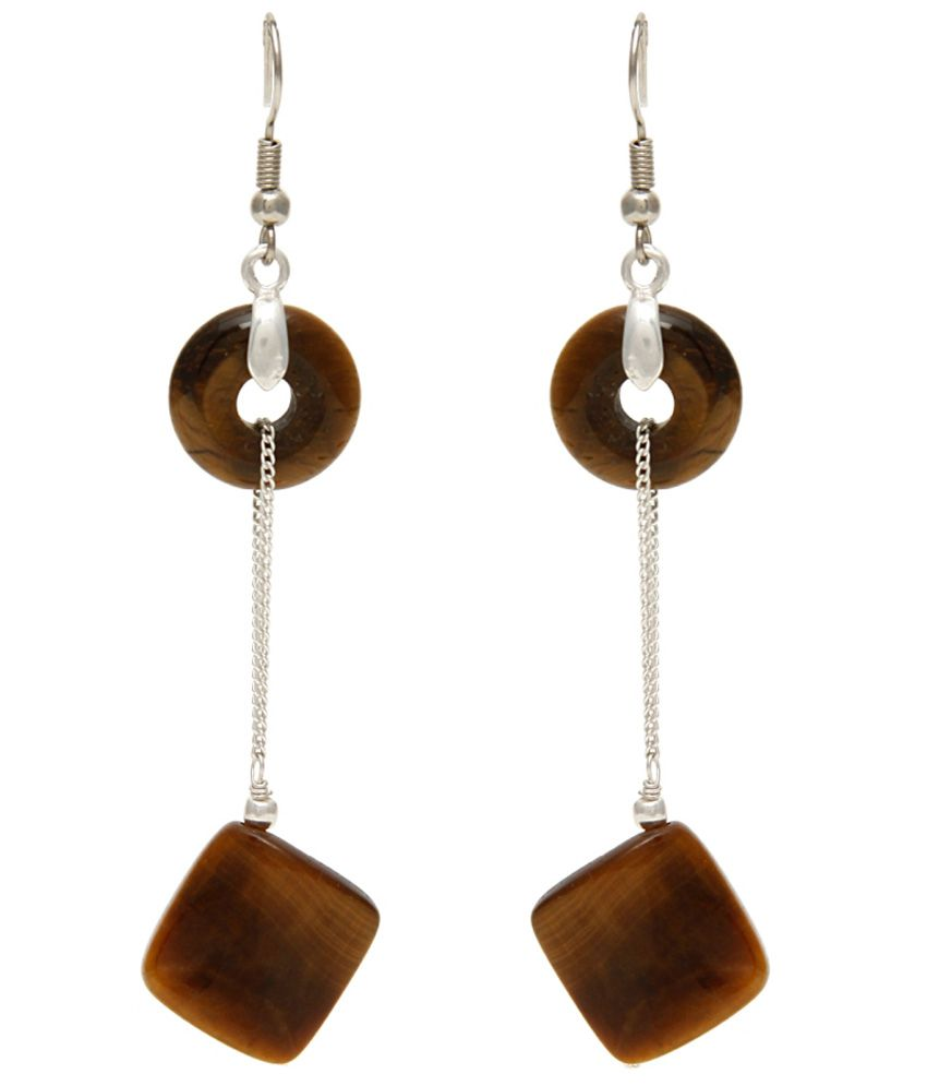 Trend Arrest Brown Alloy Hanging Earring