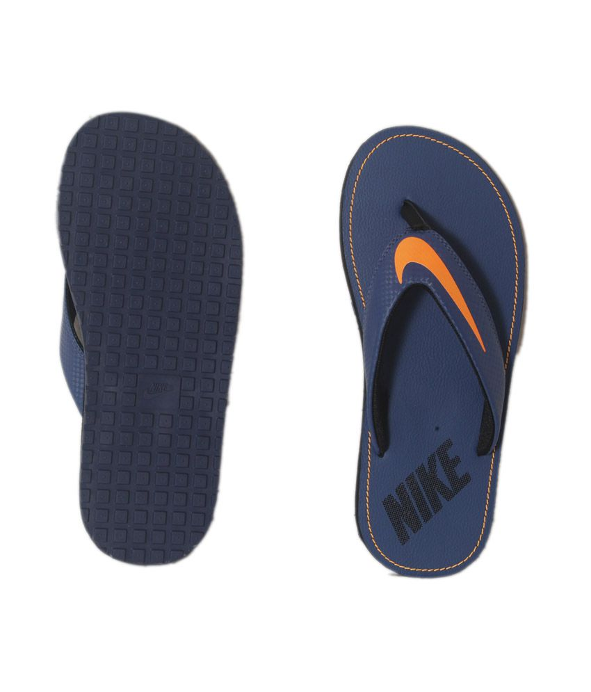 ee576b37b0b0 Nike Chroma Thong 4 Blue Flip Flops Price in India- Buy Nike Chroma ...