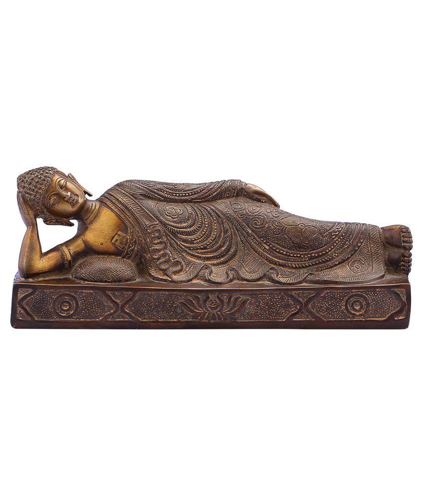 Recrafto Brass Buddha Religious Idols
