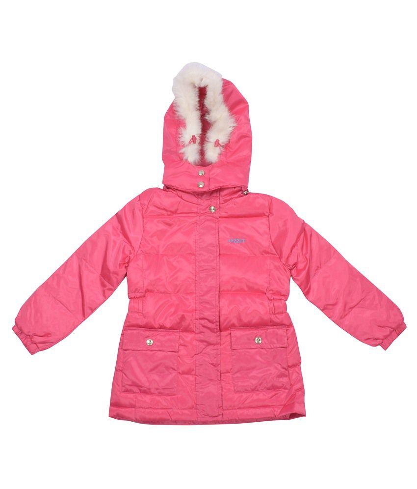 Shopping Karega Pink Polyester Jacket For Girls