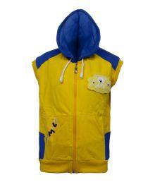 Kothari Yellow And Blue Full Sleeves Fleece Sweatshirt