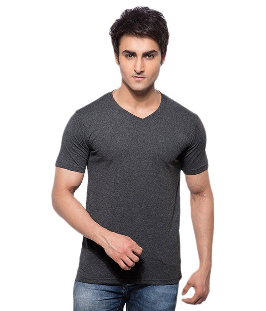 Abi Krishna Exports Black Cotton T -shirt