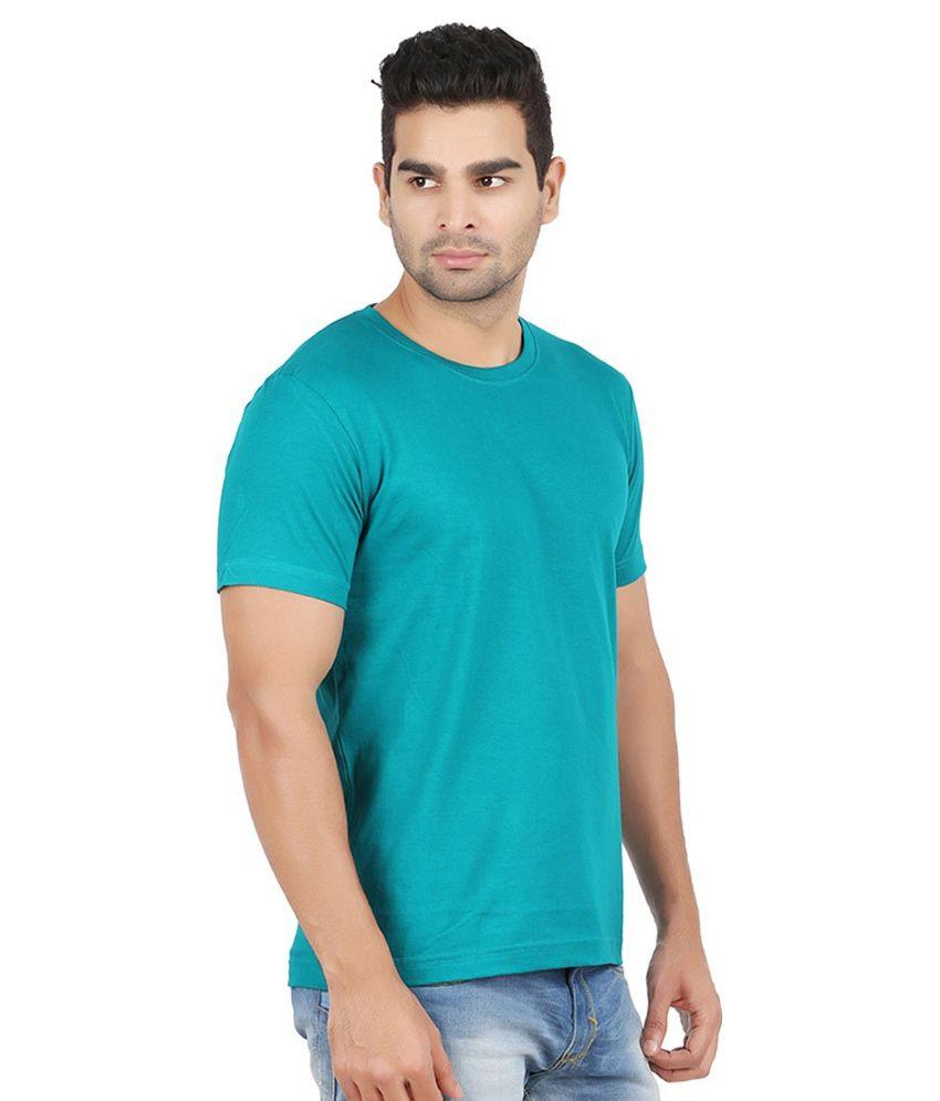 Abi Krishna Exports Turquoise Cotton T -shirt