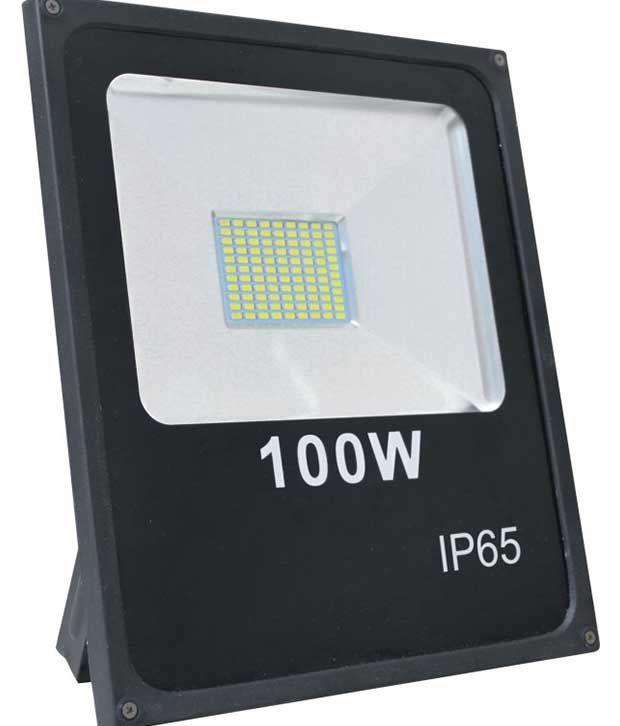 Led Flood Light India: Galaxy Lighting 100 Watt LED Flood Light Ultra Slim: Buy