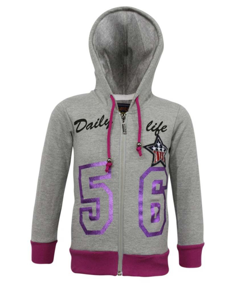 Kothari Gray Fleece Hooded Sweatshirt