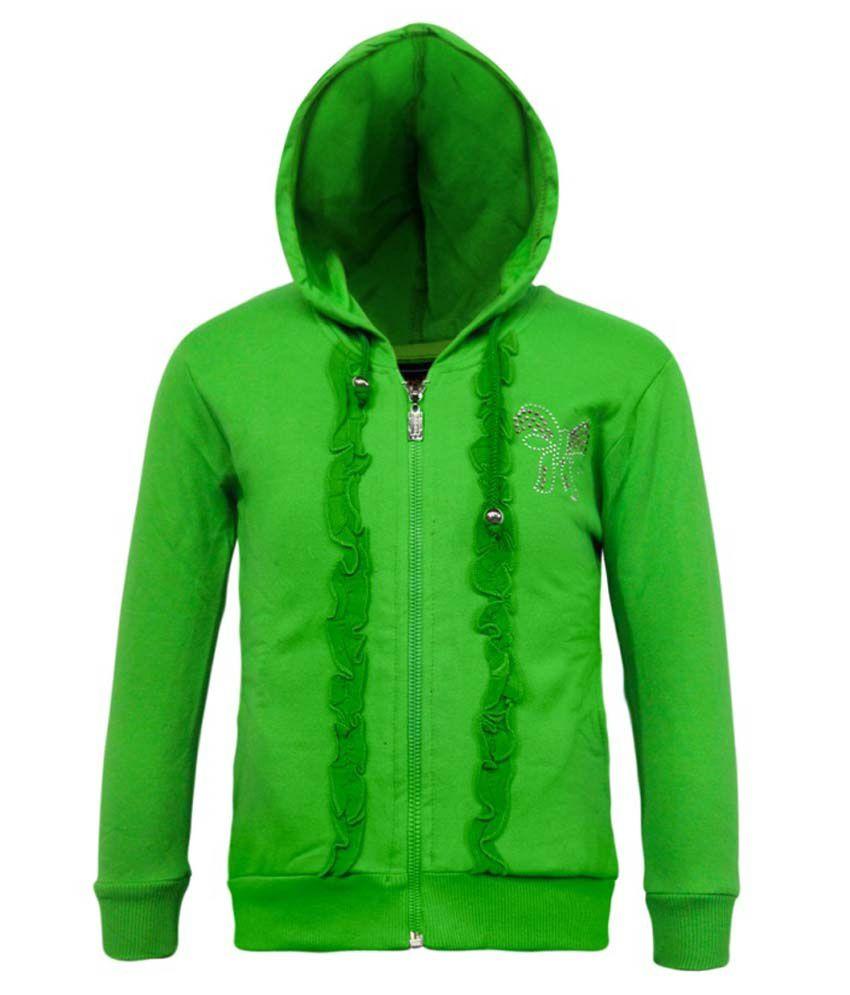 Kothari Green Fleece Hooded Sweatshirt