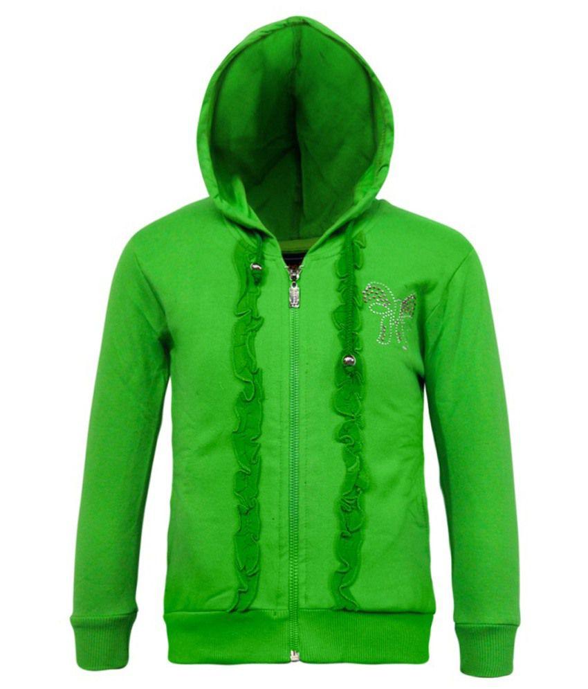 Kothari Green Fleece Sweatshirt With Hood
