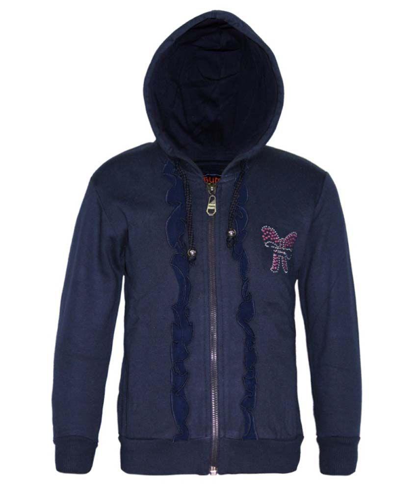 Kothari Navy Fleece Hooded Sweatshirt