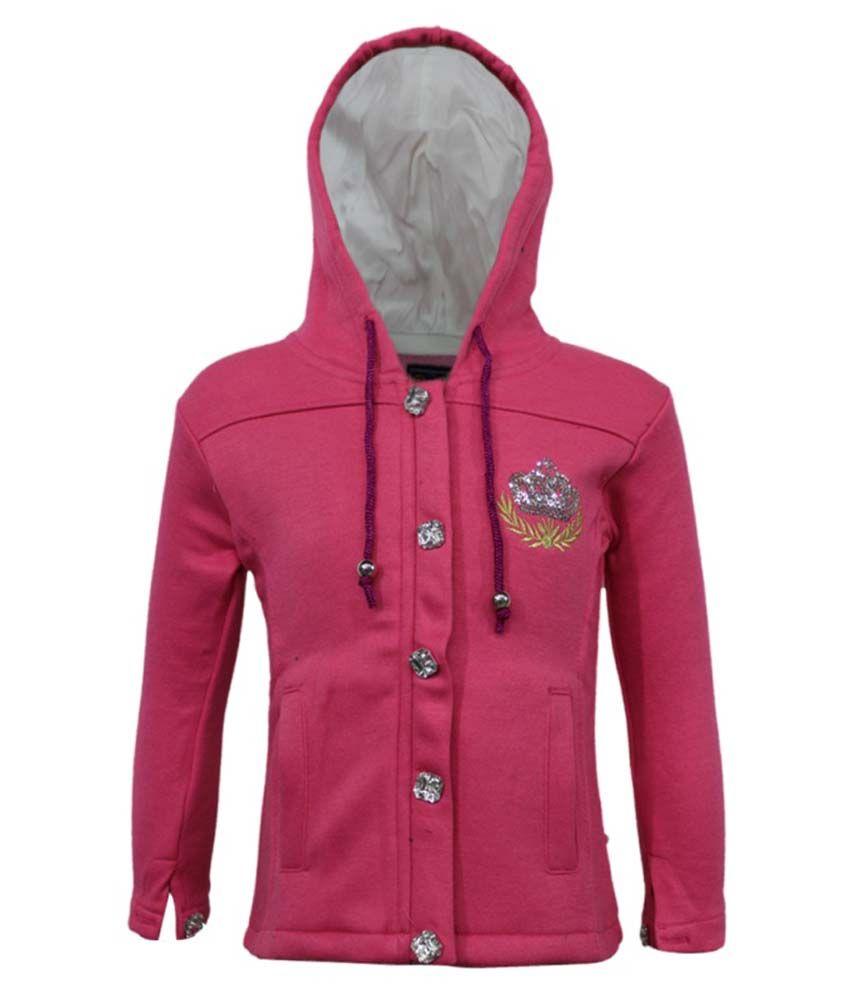 Kothari Pink Fleece Hooded Sweatshirt